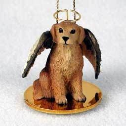 Raining Cats and Dogs | Golden Retriever Angel Ornament