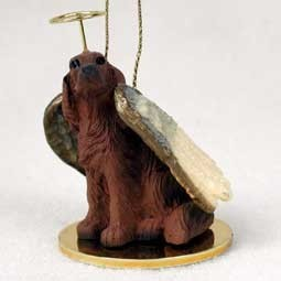 Raining Cats and Dogs | Irish Setter Angel Ornament