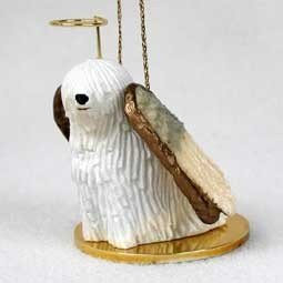 Raining Cats and Dogs | Komondor Angel Ornament