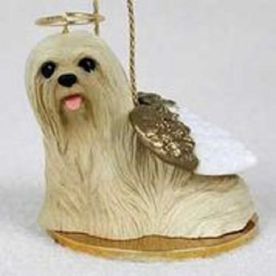 Raining Cats and Dogs | Lhasa Apso Dog Angel Ornament