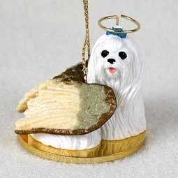 Raining Cats and Dogs | Maltese Angel Ornament
