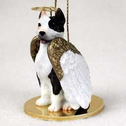 Raining Cats and Dogs | Pit Bull Dog Angel Ornament