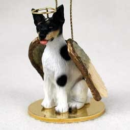 Raining Cats and Dogs | Rat Terrier Angel Ornament