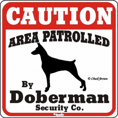 Raining Cats and Dogs | Doberman Caution Sign, the Perfect Dog Warning Sign