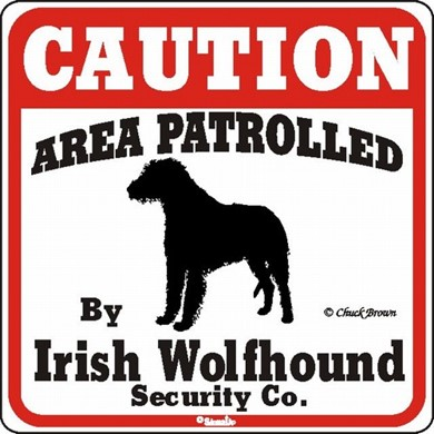 Raining Cats and Dogs | Irish Wolfhound Caution Sign, the Perfect Dog Warning Sign