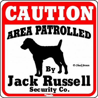 Raining Cats and Dogs | Jack Russell Caution Sign, the Perfect Dog Warning Sign