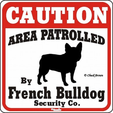 Raining Cats and Dogs | French Bulldog Caution Sign, the Perfect Dog Warning Sign