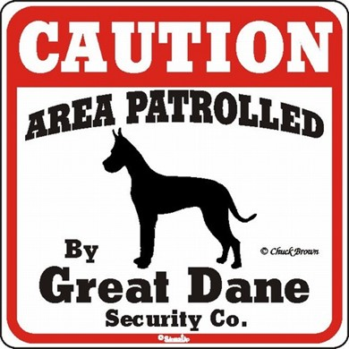Raining Cats and Dogs | Great Dane Caution Sign, the Perfect Dog Warning Sign