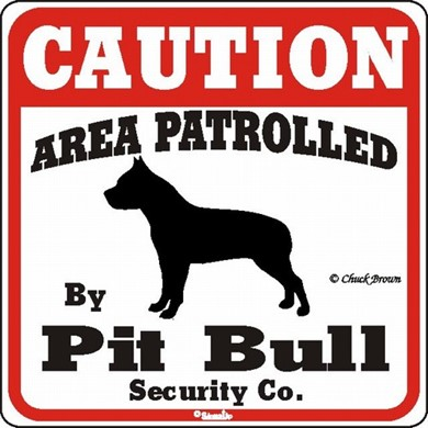 Raining Cats and Dogs | Pit Bull Caution Sign