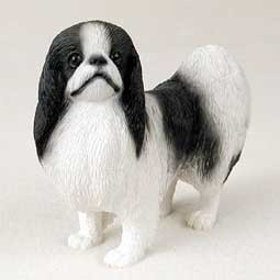 Raining Cats and Dogs | Japanese Chin Figurine