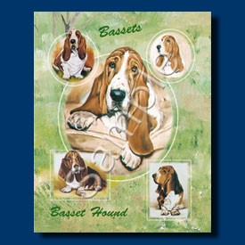 Raining Cats and Dogs | Basset Hound Gift Bag