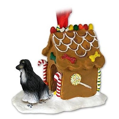 Raining Cats and Dogs | Afghan Hound Gingerbread Christmas Ornament