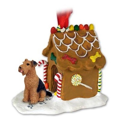 Raining Cats and Dogs | Airedale Gingerbread Christmas Ornament