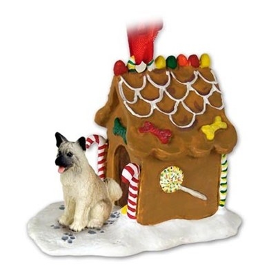 Raining Cats and Dogs | Akita Gingerbread Christmas Ornament