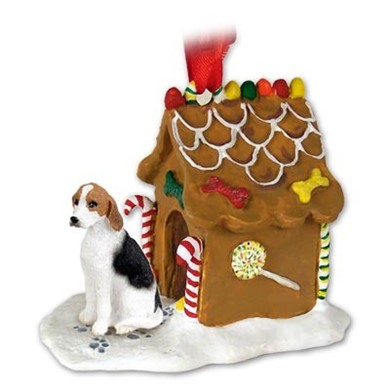 Raining Cats and Dogs | American Foxhound Gingerbread Christmas Ornament