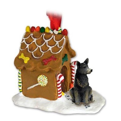 Raining Cats and Dogs | Australian Cattle Dog Gingerbread Christmas Ornament
