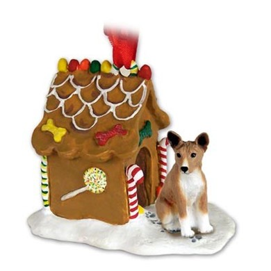 Raining Cats and Dogs | Basenji Gingerbread Christmas Ornament