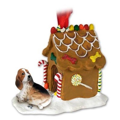 Raining Cats and Dogs | Basset Hound Gingerbread Christmas Ornament