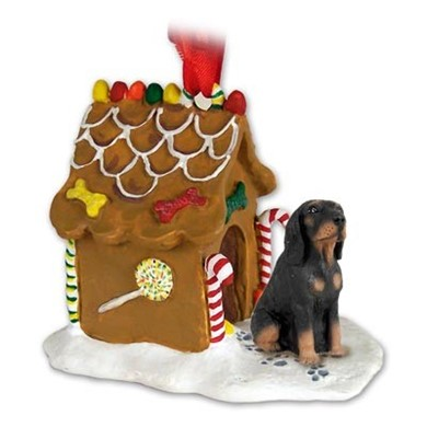 Raining Cats and Dogs | Black & Tan Coonhound Gingerbread Christmas Ornament