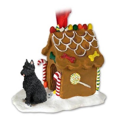 Raining Cats and Dogs | Bouvier Gingerbread Christmas Ornament