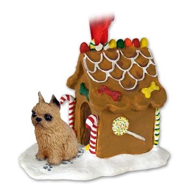 Raining Cats and Dogs | Brussels Griffon Gingerbread Christmas Ornament