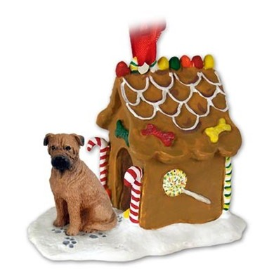 Raining Cats and Dogs | Bullmastiff Gingerbread Christmas Ornament