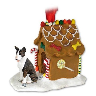 Raining Cats and Dogs | Bull Terrier Gingerbread Christmas Ornament