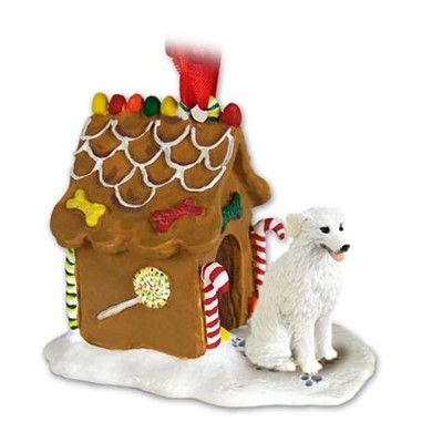 Raining Cats and Dogs | Kuvasz Gingerbread Christmas Ornament