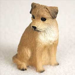 Raining Cats and Dogs | Border Terrier Tiny One Dog Figurine