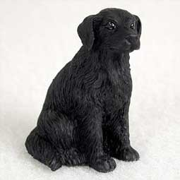 Raining Cats and Dogs | Flat Coated Retriever Tiny One Dog Figurine