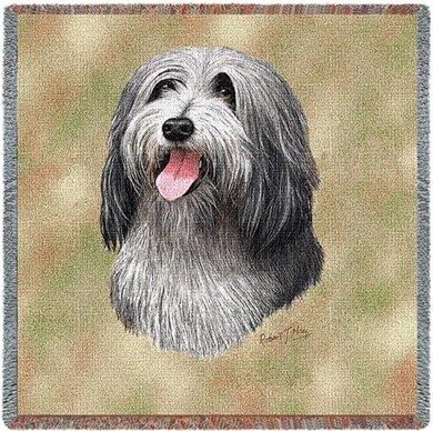 Raining Cats and Dogs | Bearded Collie Throw
