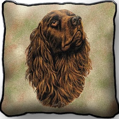 Raining Cats and Dogs | Boykin Spaniel Pillow, Made in the USA
