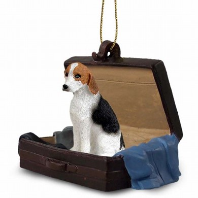 Raining Cats and Dogs | American Foxhound Traveling Companion Ornament