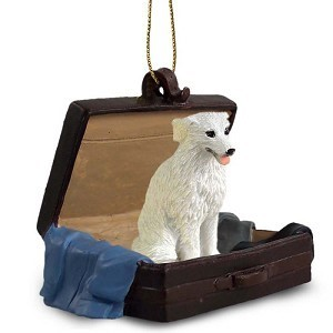Raining Cats and Dogs | Kuvasz Traveling Companion Ornament