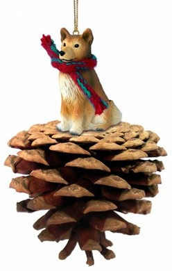 Raining Cats and Dogs | Pine Cone Finnish Spitz Dog Christmas Ornament