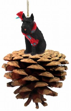 Raining Cats and Dogs | Pine Cone Giant Schnauzer Dog Christmas Ornament