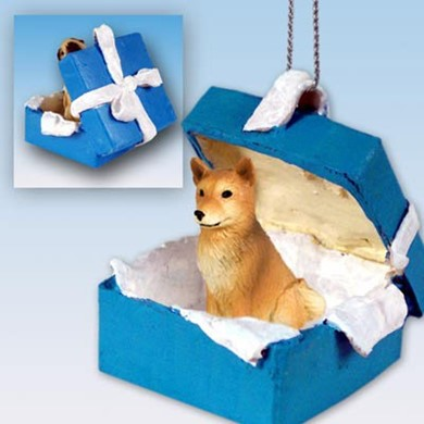Raining Cats and dogs | Finnish Spitz Gift Box Holiday Ornament