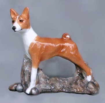 Raining Cats and Dogs | Basenji Limited Edition Dog Figurine