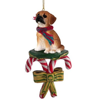 Raining Cats and Dogs | Candy Cane Puggle Dog Christmas ...