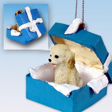 Raining Cats and Dogs | Cockapoo Gift Box Holiday Ornament