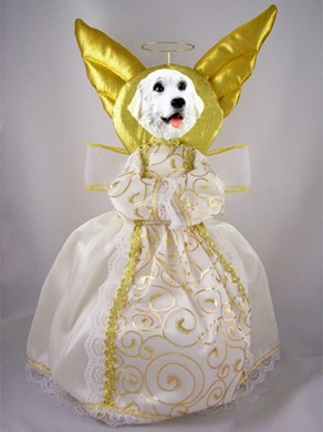 Raining Cats and Dogs | Great Pyrenees Angel Tree Topper