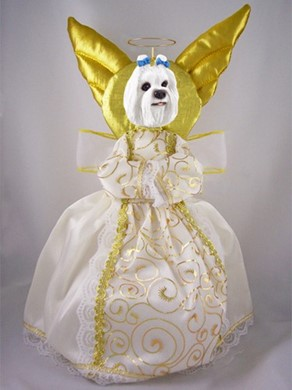 Raining Cats and Dogs | Maltese Angel Tree Topper