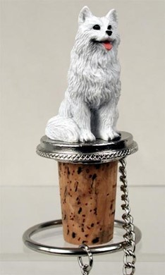 Raining Cats and Dogs | Samoyed Bottle Stopper