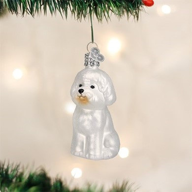 Raining Cats and Dogs | Bichon Frise Vintgage Dog Christmas Ornament