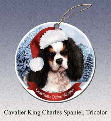 Raining Cats and Dogs |Cavalier King Charles Santa Dog Christmas Ornament