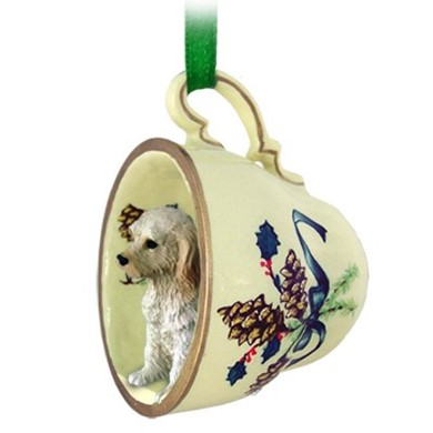 Raining Cats and Dogs | Labradoodle Tea Cup Holiday Ornament