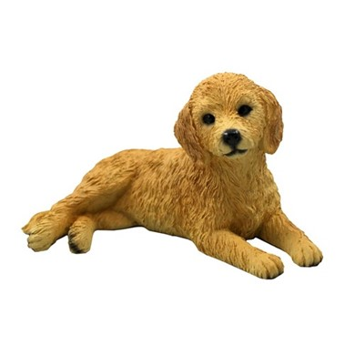 Raining Cats and Dogs | Goldendoodle Figurine