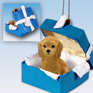 Raining Cats and Dogs | Goldendoodle Gift Box Holiday Ornament