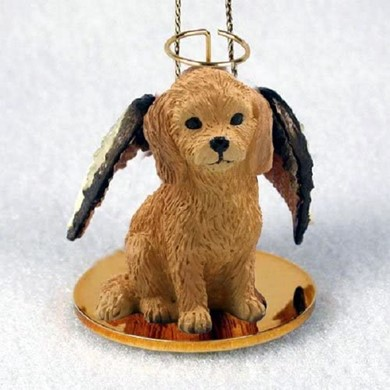Raining Cats and Dogs | Goldendoodle Angel Ornament