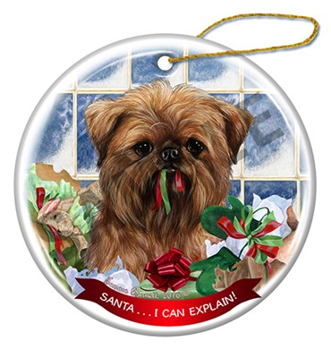 Raining Cats and Dogs | Brussels Griffon Brown Santa I Can Explain Ornament